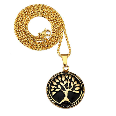 KarmaShine- Necklace-Tree of Life-Gold or Black