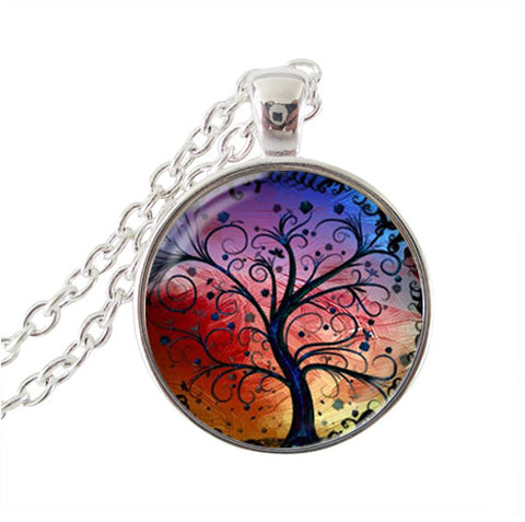 KarmaShine- Necklace-Tree of Life-Glass Cabochon