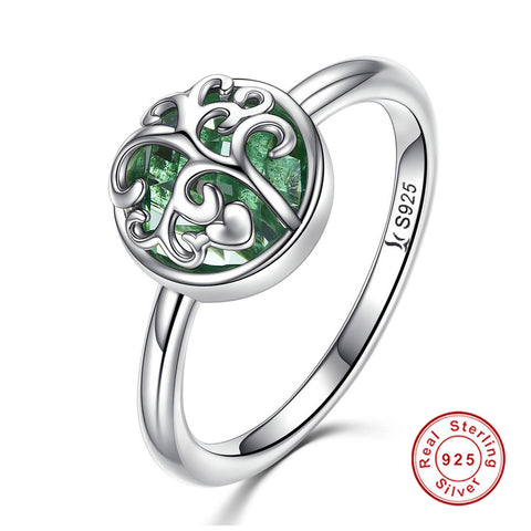 KarmaShine- Ring-Tree of Life-925 Sterling Silver-Cubic Zirconia