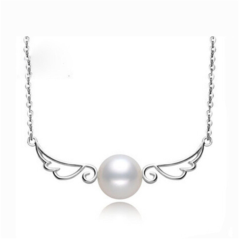 KarmaShine-Necklace-Isis Goddess-925 Sterling Silver-Natural freshwater Pearl
