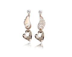 KarmaShine-Earrings-Isis Goddess-Austria Crystal-Rose Gold Color
