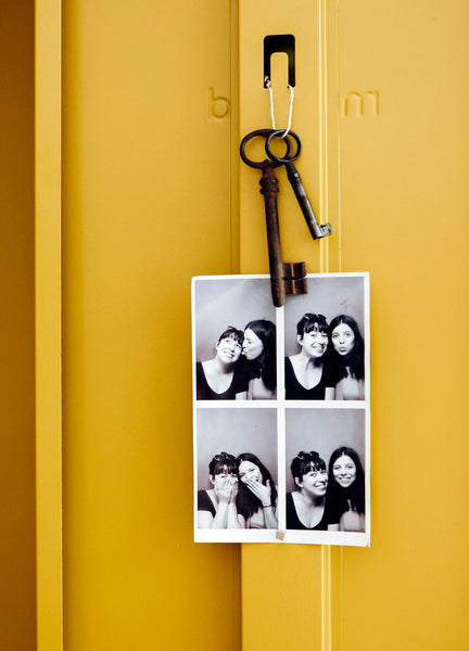 Photo Booth in mustard locker