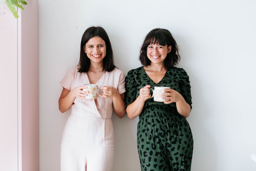 Becca and Jess of Mustard Made - sisters in business