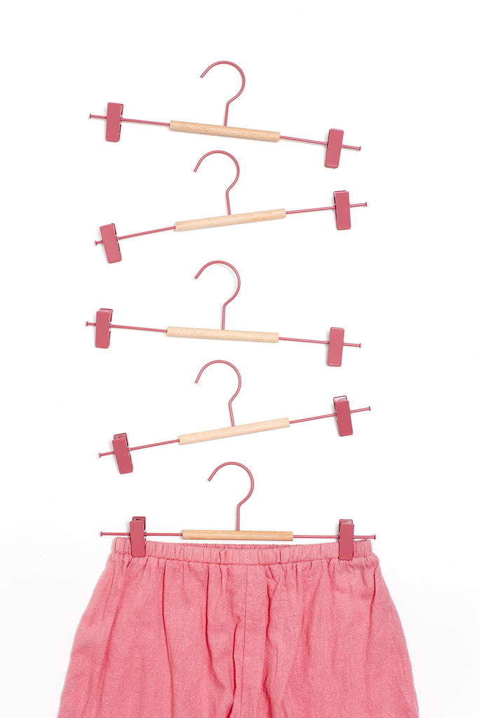 Adult Clip Hangers in Berry - Mustard Made Australia