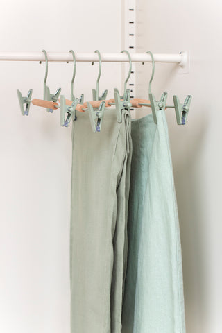 Adult Clip Hangers in Sage - Mustard Made Australia