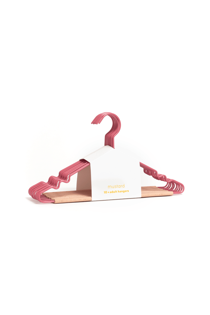 Adult Top Hangers in Berry - Mustard Made Australia