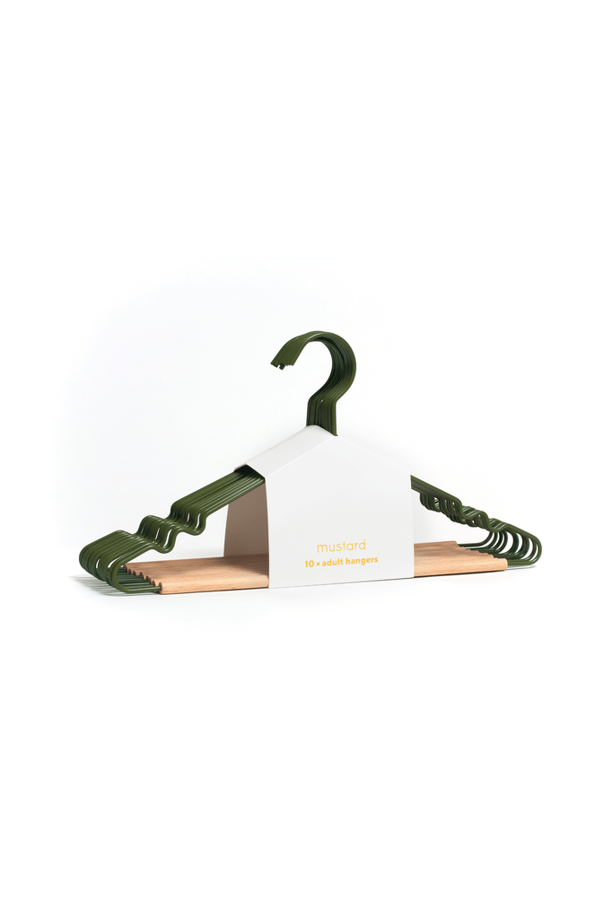 Adult Top Hangers in Olive - Mustard Made Australia