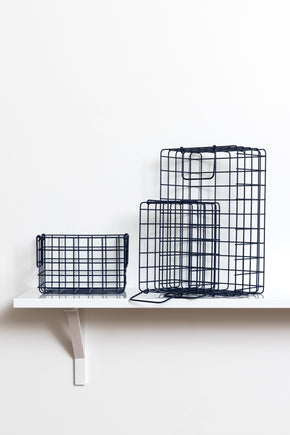 The Baskets in Navy - Mustard Made