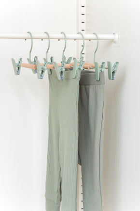 Kids Clip Hangers in Sage - Mustard Made Australia