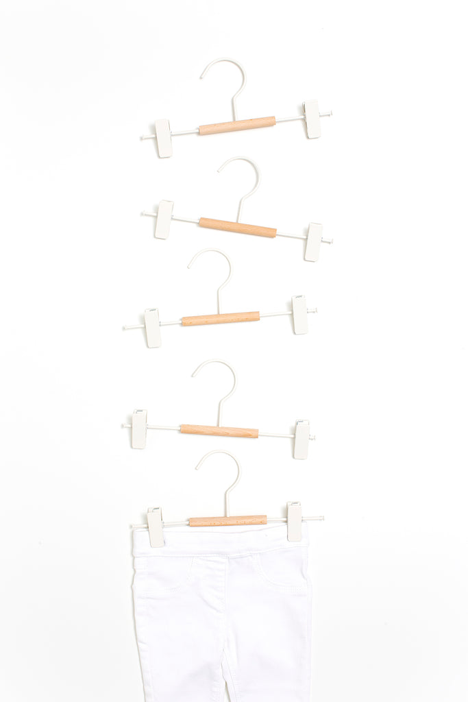 Kids Clip Hangers in White - Mustard Made Australia