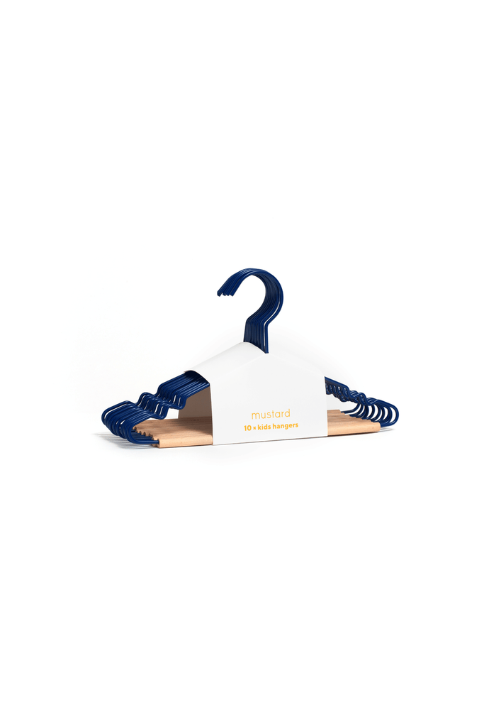 Kids Top Hangers in Navy - Mustard Made Australia
