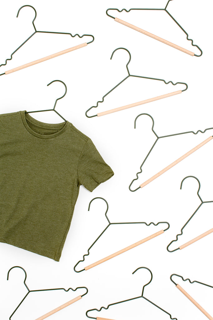 Kids Top Hangers in Olive - Mustard Made Australia