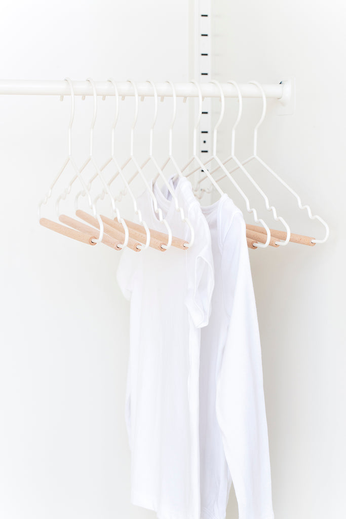 Kids Top Hangers in White - Mustard Made Australia