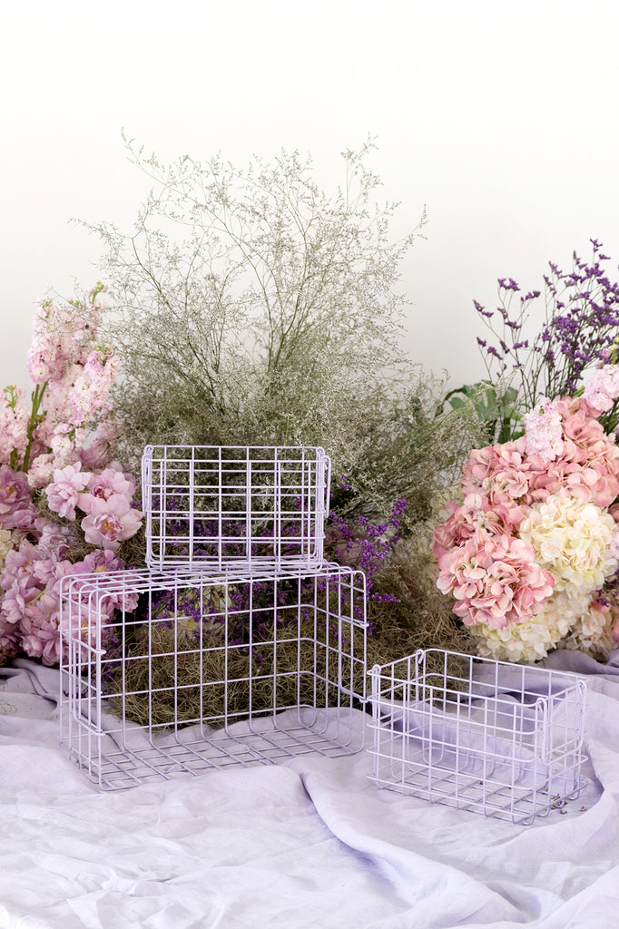 The Baskets in Lilac - Mustard Made Australia