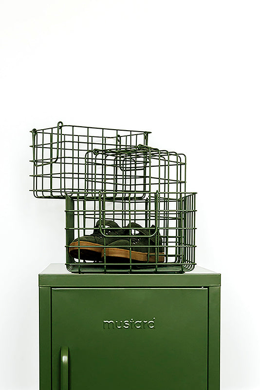 The Baskets in Olive - Mustard - Locker
