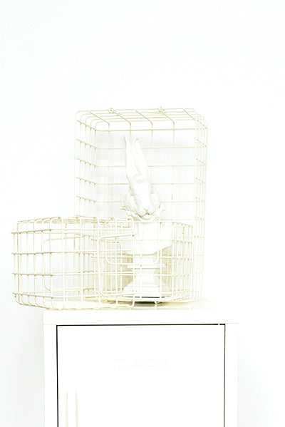 The Baskets in White - Mustard - Locker