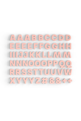 Alphabet Magnets in Blush - Mustard Made Australia