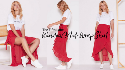 Window Midi Wrap Skirt - The Fifth Label