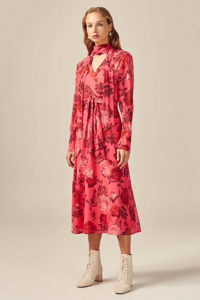 C/meo Collective - Variation Long Sleeve Midi Dress - Lalabazaar