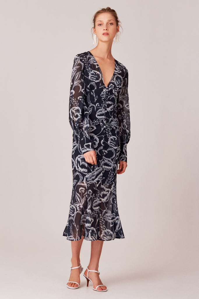 C/meo Collective - Discetion Midi Dress - Lalabazaar