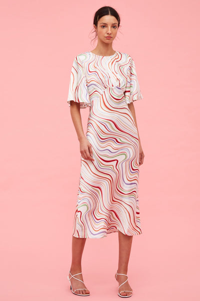 c/meo collective my way ss dress rainbow