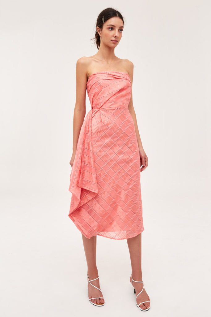 C/meo Collective same things midi dress coral