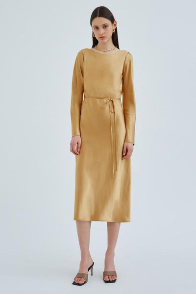 C/meo Collective Entwine Midi Dress Gold Sample