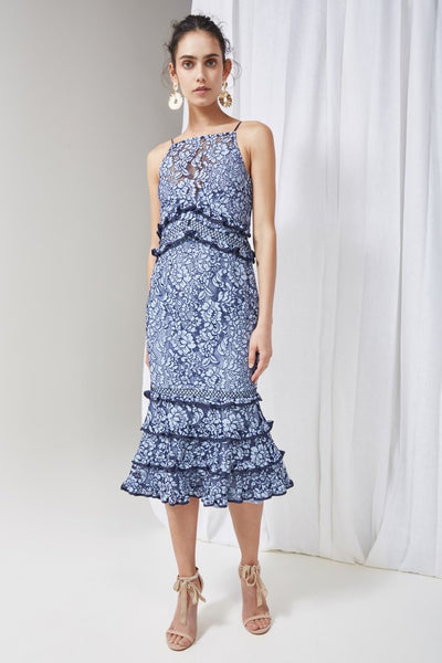Keepsake The Label - Catch Me Lace Midi Dress - Lalabazaar