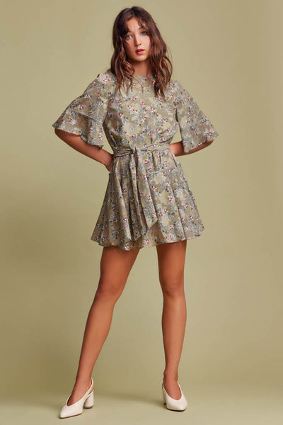 Finders Keepers The Label - Flutter Long Sleeve Dress