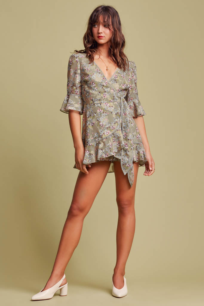 Finders Keepers The Label - Flutter Playsuit - Lalabazaar