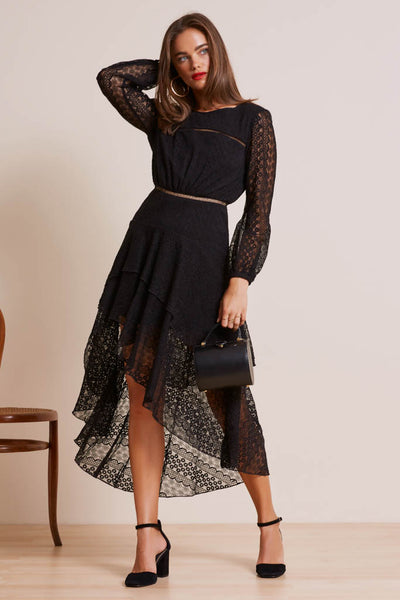 Finders Keepers The Label - Night Lights Long Sleeve Dress - Lalabazaar