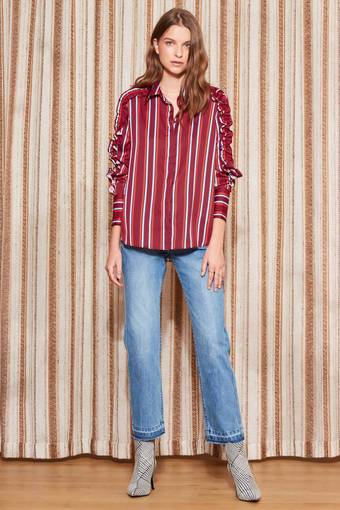 The Fifth Label - Volley Stripe Long Sleeve Shirt