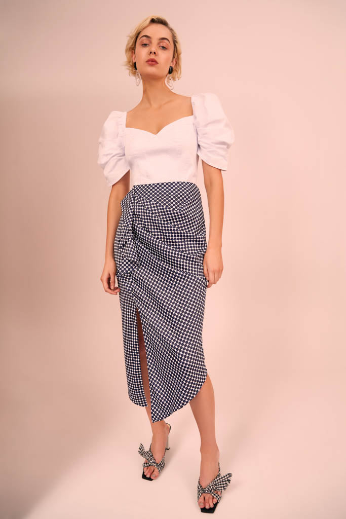 2904ea73fe C meo Collective - Jagged Skirt - Lalabazaar
