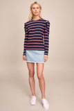 The Fifth Label - Kinetic Stripe Long Sleeve Top
