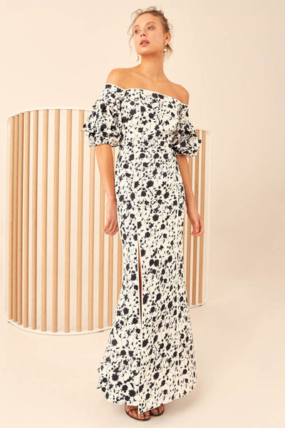 C/meo Collective - Only With You Short Sleeve Gown - Lalabazaar