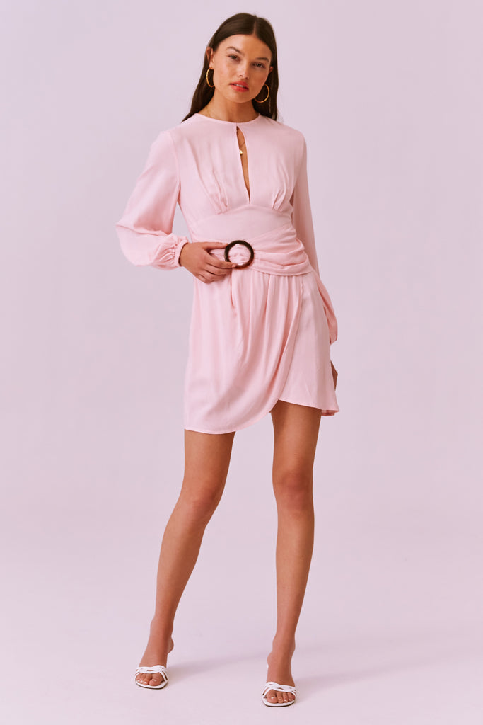 Finders Keepers The Label - Drape Long Sleeve Mini Dress