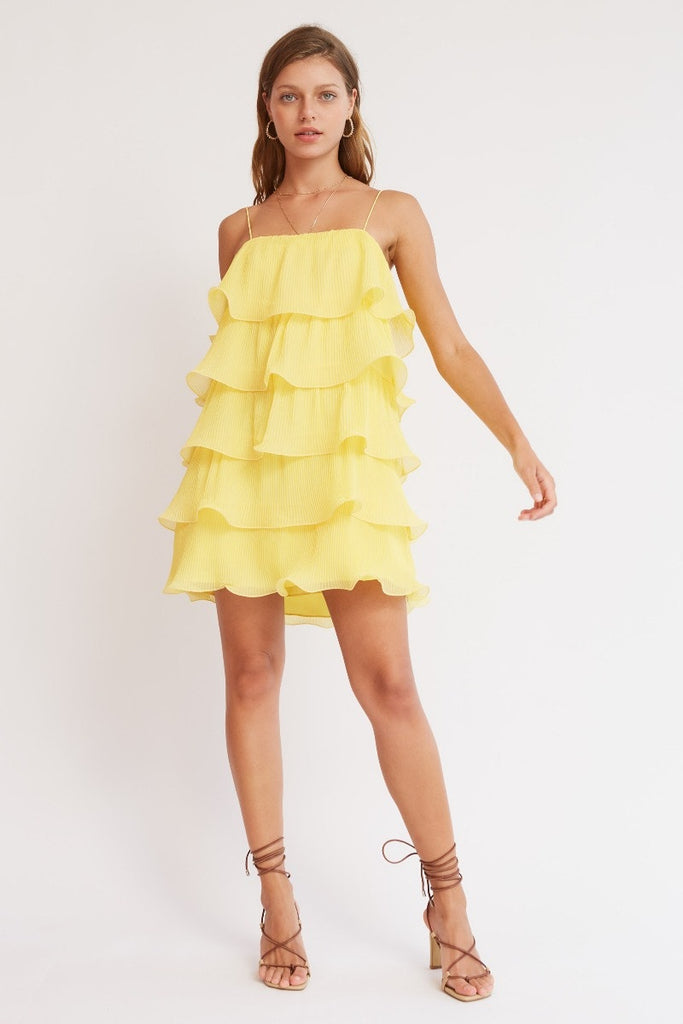 Finders Keepers - Bijou Mini Dress - Yellow - sample