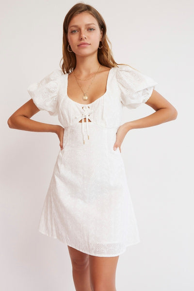 Finders Keepers - Arabella Dress - White - Sample