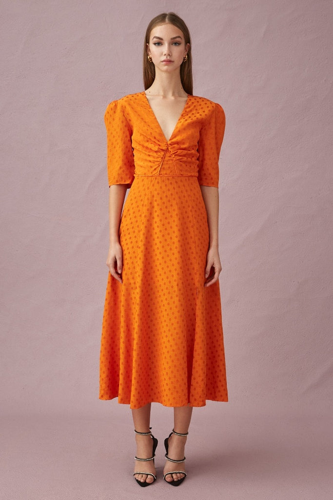 Keepsake The Label - Mingle Dress - Rust - Sample