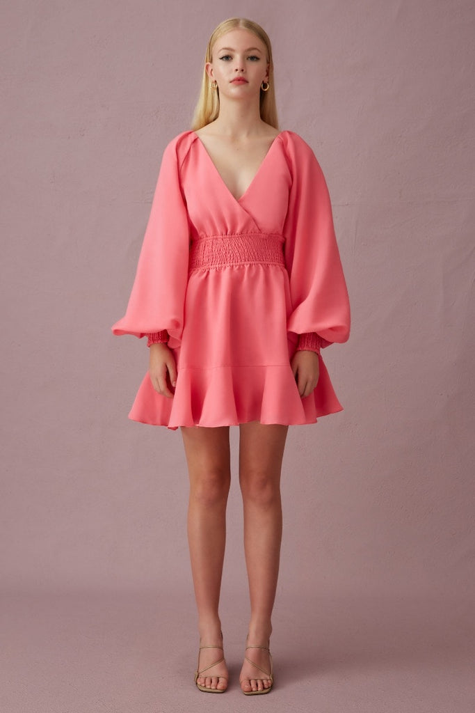 Keepsake The Label - Clubhouse L/S Mini  Dress - Bubblegum - sample