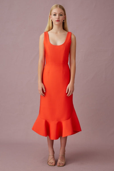 Keepsake The Label - Sunshine Midi Dress - Chilli - sample