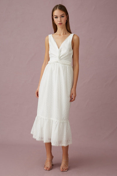 Keepsake the Label Forward Midi Dress - Porcelain - sample
