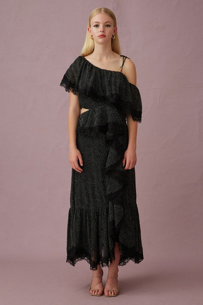 Keepsake The Label Complex midi dress - Black spot - sample