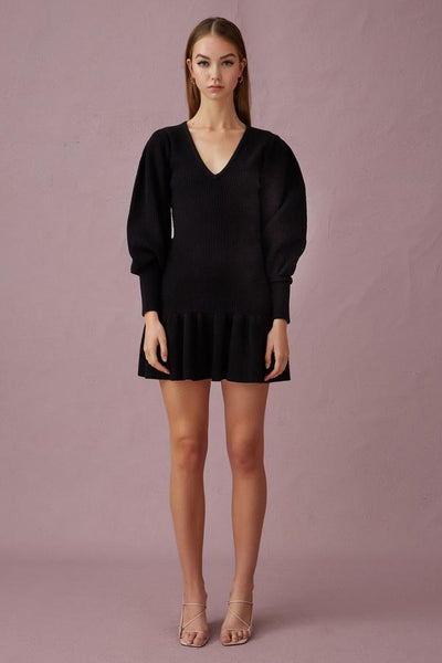 Keepsake the Label - Melody Knit Dress - Black - sample