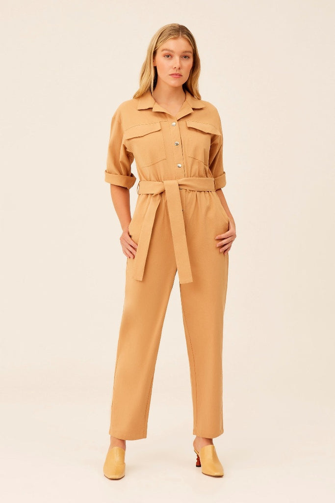 The Fifth Label - Backtrack Jumpsuit - Tan - Sample