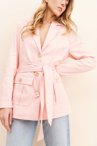 Finders Keepers The Label - Valentina Blazer -Blush
