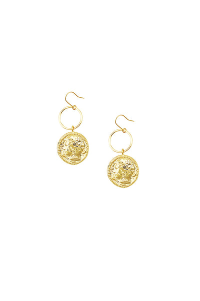 Jolie & Deen - Helena Coin Earrings