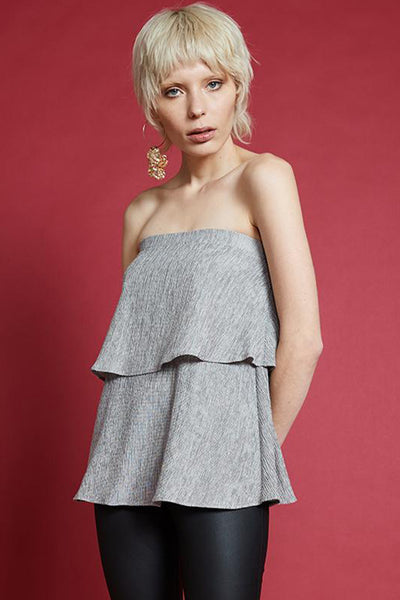August Street - My Way Strapless Top