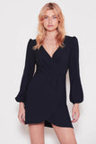The Fifth Label - Chemistry Long Sleeve Wrap Dress - Lalabazaar