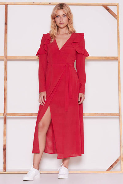 The Fifth Label - Window Long Sleeve Wrap Dress